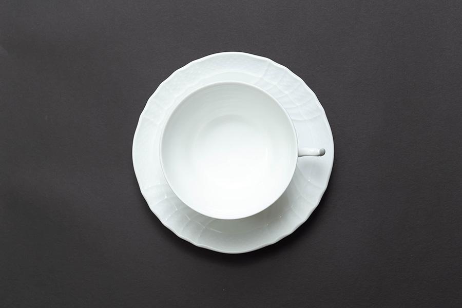 リチャード・ジノリ ベッキオホワイト ティーカップ&ソーサー