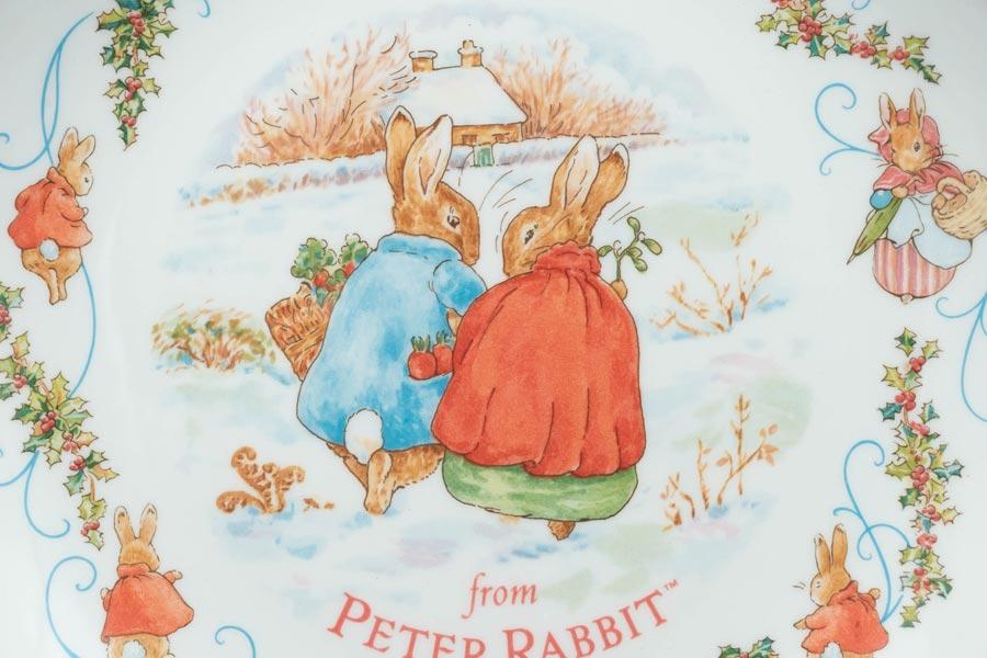 ウェッジウッド ピーターラビット クリスマスプレート(1997年)