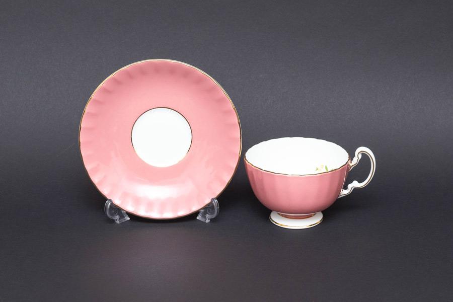 エインズレイ コテージガーデン(ピンク) ティーカップ&ソーサー(オーバン)