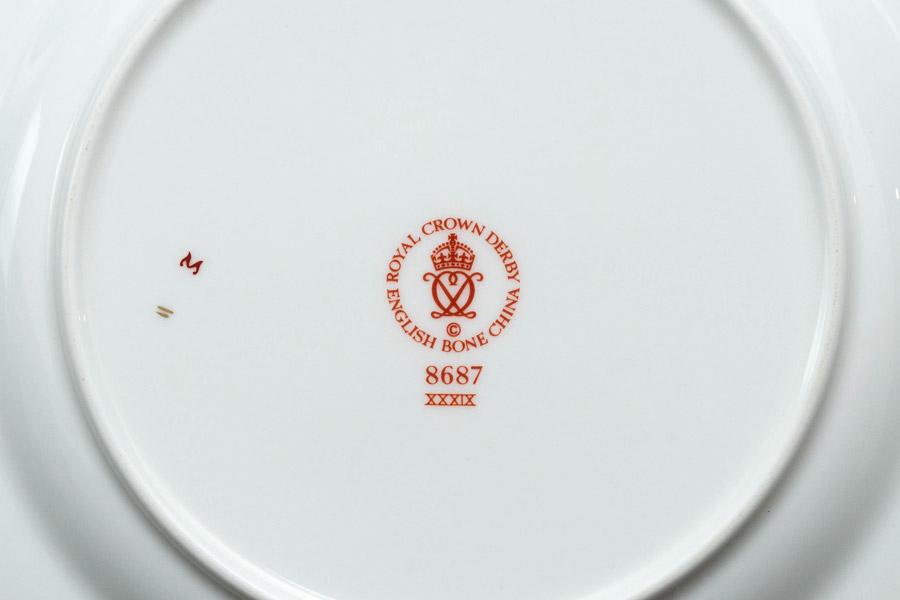 ロイヤル・クラウン・ダービー アジアンローズ 21cmプレート