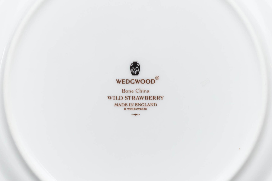 ウェッジウッド ワイルドストロベリー アクセント(グリーン)20cmプレート