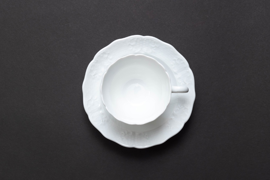 ヘレンド バロックホワイト カップ&ソーサー
