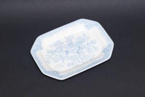 バーレイ ブルーアジアティックフェザンツ 25cmスクエアディッシュ