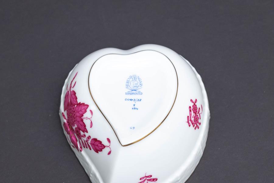 ヘレンド アポニー・ピンク ハートボックス