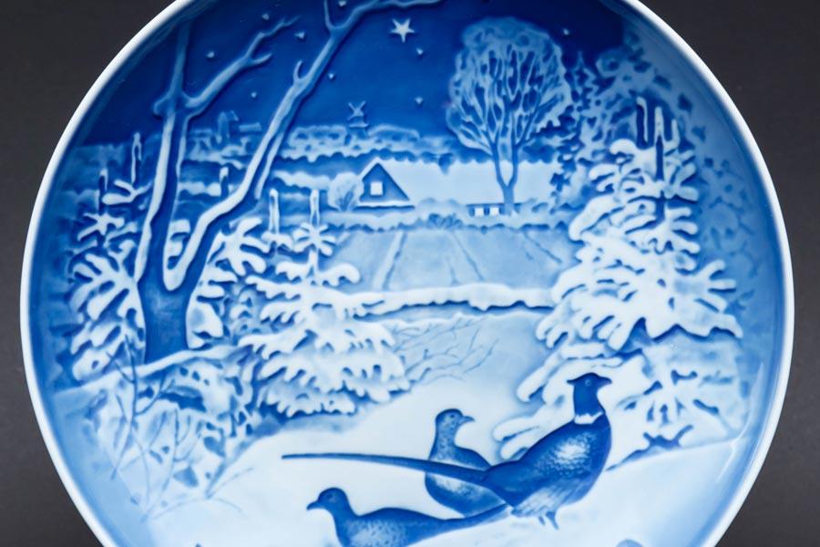 ビング・オー・グレンダール クリスマスプレート(1970年)『Pheasants in the Snow of Christmas』