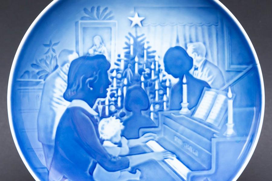 ビング・オー・グレンダール クリスマスプレート(1971年)『Christmass at Home』