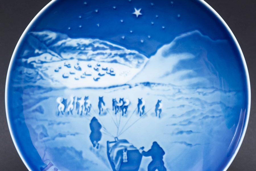 ビング・オー・グレンダール クリスマスプレート(1972年)『Christmas in Greenland』