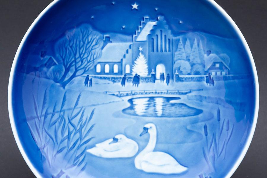 ビング・オー・グレンダール クリスマスプレート(1974年)『Christmass in the Village』