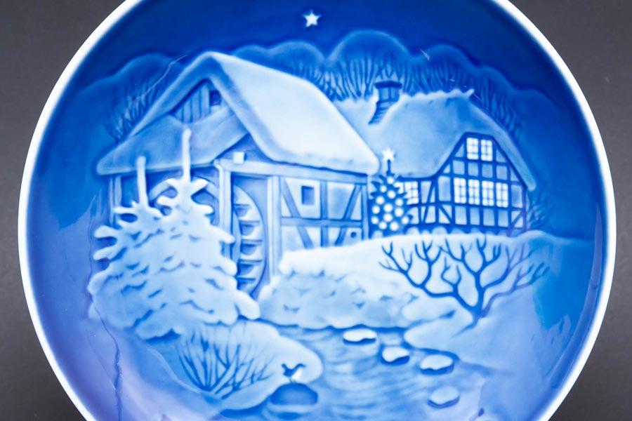 ビング・オー・グレンダール クリスマスプレート(1975年)『The Old Water Mill』