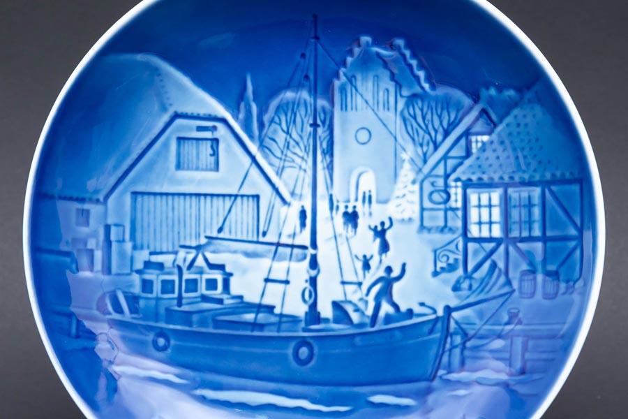 ビング・オー・グレンダール クリスマスプレート(1976年)『Christmas Welcome』