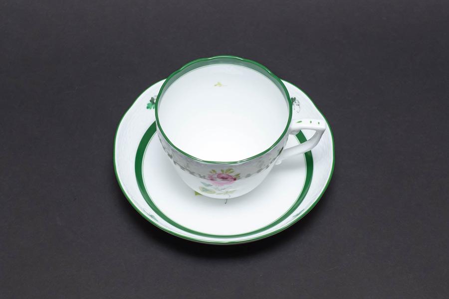 ヘレンド ウィーンの薔薇 メランジェカップ&ソーサー(ハンガリー建国1,100年記念)