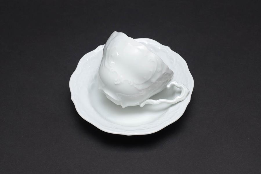 リンドナー プレインホワイト コーヒーカップ&ソーサー