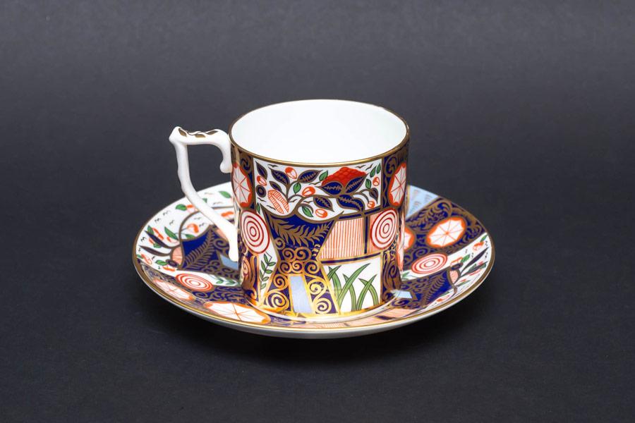 ロイヤル・クラウン・ダービー ダービーガーデン コーヒーカップ&ソーサー
