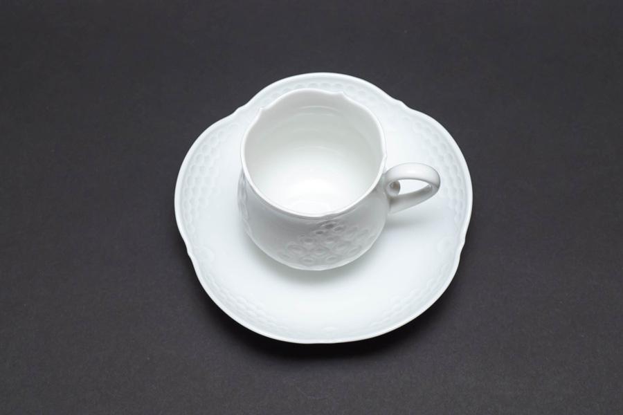 マイセン ホワイトレリーフ コーヒーカップ&ソーサー