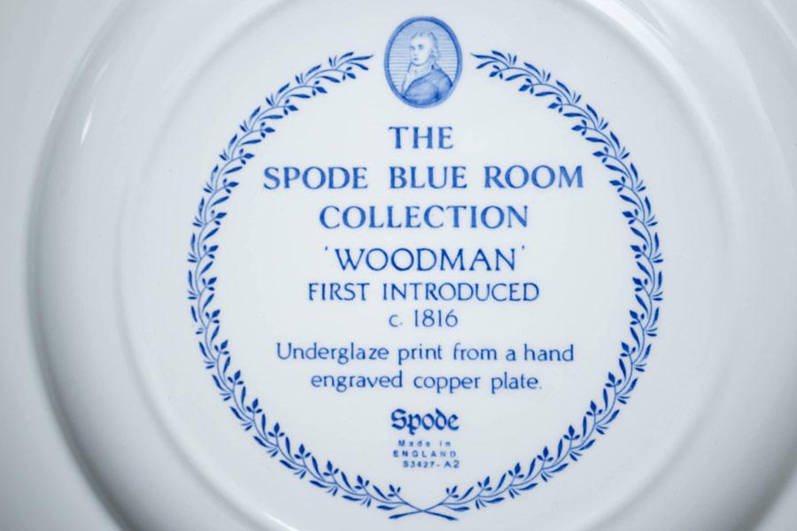 スポード ブルールームコレクション(ウッドマン) 27cmプレート