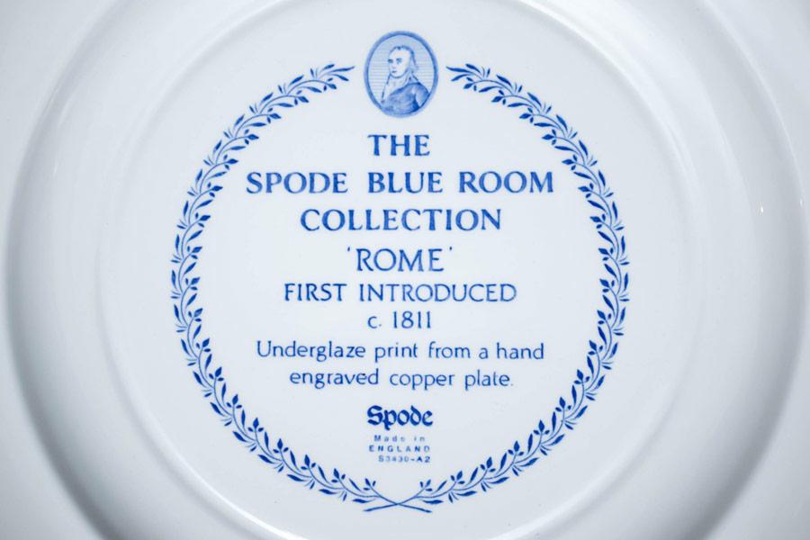 スポード ブルールームコレクション(ローマ) 27cmプレート