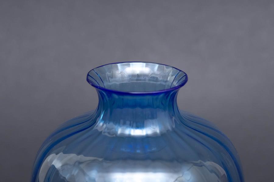 バカラ アクアレーユ(ブルー) フラワーベース
