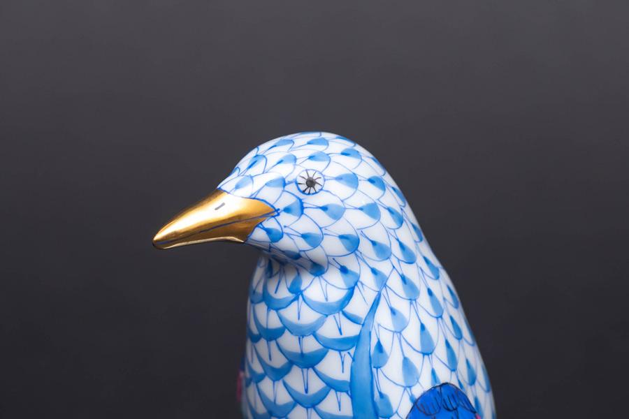 ヘレンド フィギュリン ペンギン(ブルー)