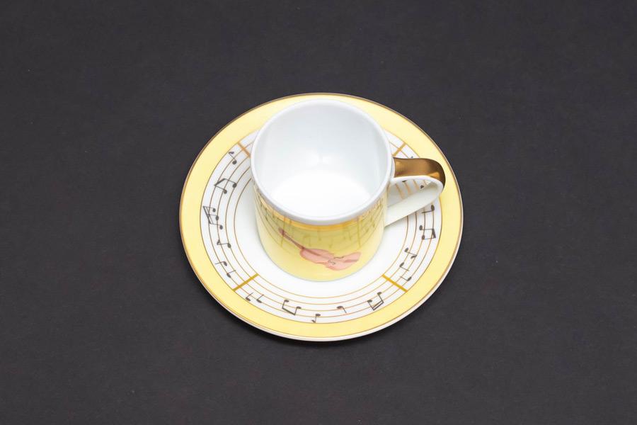 ローゼンタール × ブルガリ コンチェルト(バイオリン) デミタスカップ&ソーサー